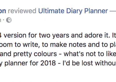 Clare Murchison Ultimate Diary Planner 2017 Testimonial