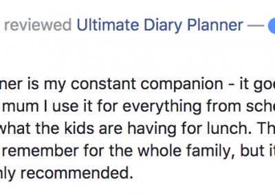 Helen Jackson Ultimate Diary Planner 2017 Testimonial