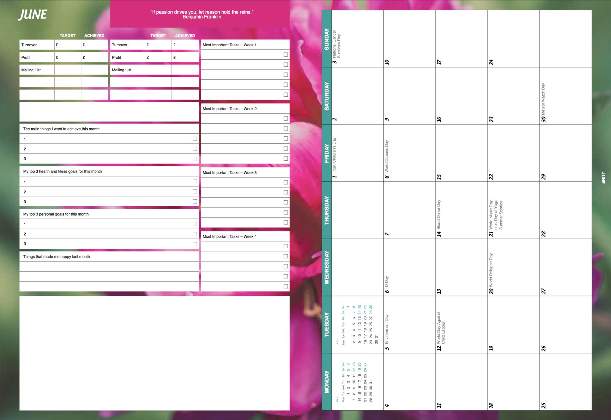 a5 ultimate diary planner 2018  u2013 sprinkles
