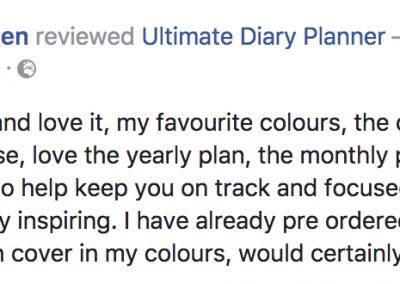 Christina Bridgen Ultimate Diary Planner 2017 Testimonial