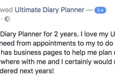 Mel Brain Ultimate Diary Planner 2017 Testimonial